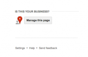 Manage this Page Google+ Local