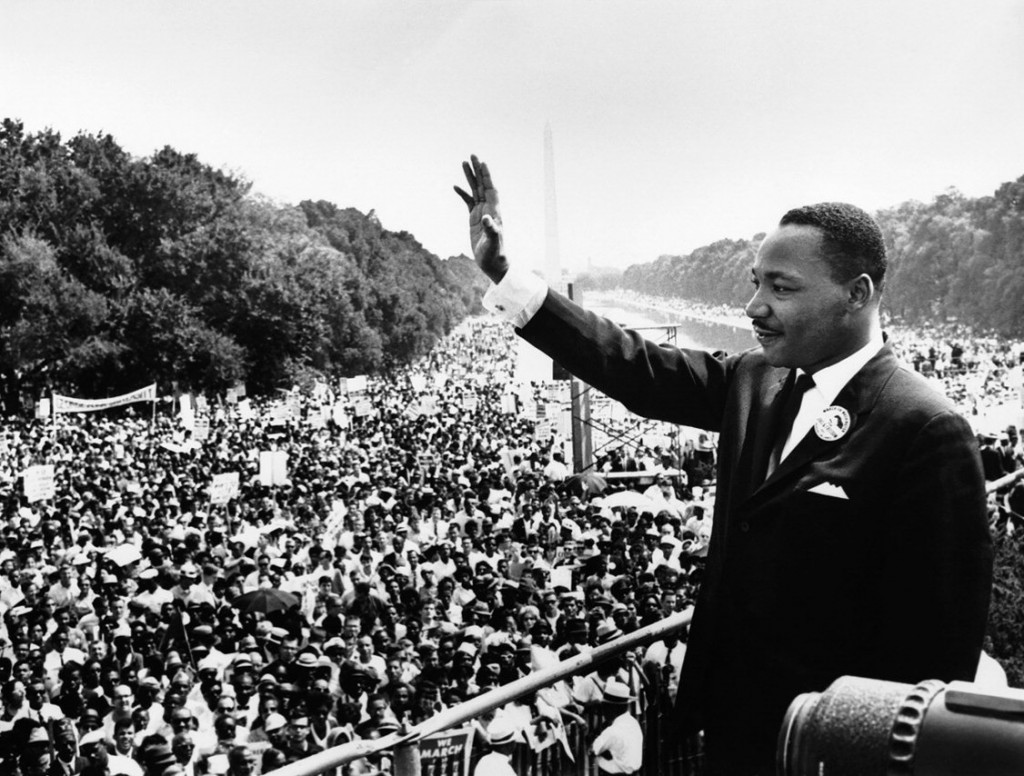 Martin Luther King, Jr. gives his address